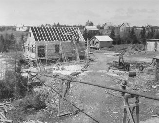 A house under construction at Caribou Mines, NS.