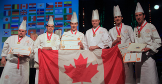 Photograph of Canada's 2010 Culinary Cup team.