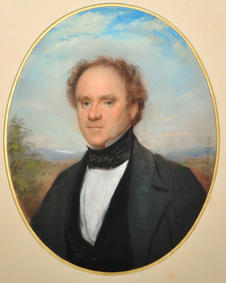 Pastel portrait of Joseph Howe in 1851 by T. Debaussy.