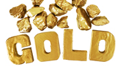"The word ""Gold"" made with gold letters."