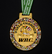 World Boxing Champion gold medal.